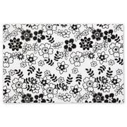 20 x 30 Retro Floral Tissue Paper, White