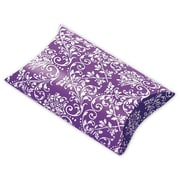 "Polyethylene Terephthalate 1""H x 3""W x 3.5""L Damask Favor Pillow Boxes, Purple/White, 12/Pack"