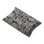 "Polyethylene Terephthalate 1""H x 3""W x 3.5""L Damask Favor Pillow Boxes, Black/White, 12/Pack"