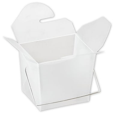 2 1/2in. x 2in. x 2 3/4in. Frosted Event Boxes, White