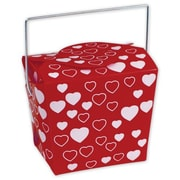 "4"" x 3 1/2"" x 4"" Heart Event Boxes, Red"