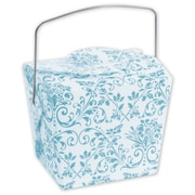 2 1/2 x 2 x 2 3/4 Damask Event Boxes, Turquoise