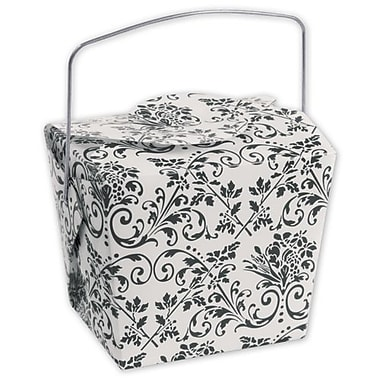 2 1/2in. x 2in. x 2 3/4in. Damask Event Boxes, White