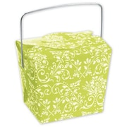 2 1/2 x 2 x 2 3/4 Damask Event Boxes, Lime