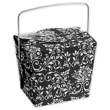 2 1/2in. x 2in. x 2 3/4in. Damask Event Boxes, Black