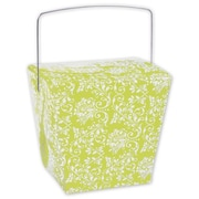 4 x 3 1/2 x 4 Damask Event Boxes, Lime