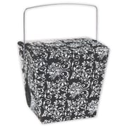 4 x 3 1/2 x 4 Damask Event Boxes, Black