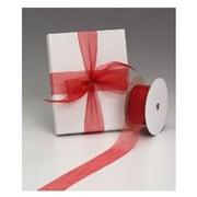 1 1/2 x 50 yds. Organdy Ribbon, Red