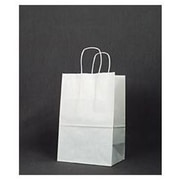 "Paper 14""H x 8.75""W x 6""D Debbie Shopper Bags, White, 250/Pack"