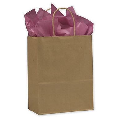 10in. x 5in. x 13in. Lindsey Paper Shoppers, Kraft