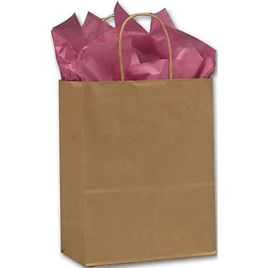 10in. x 5in. x 13in. Lindsey Recycled Paper Shoppers, Kraft