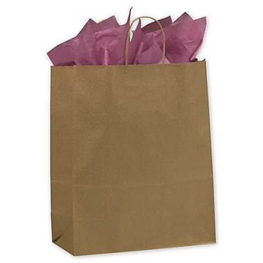 13in. x 6in. x 15 1/2in. Escort Paper Shoppers, Kraft