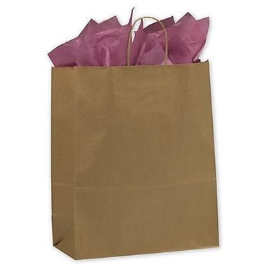 13in. x 6in. x 15 1/2in. Escort Paper Shoppers, Kraft