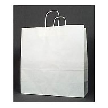 18in. x 7in. x 19in. Jumbo Paper Shoppers, White