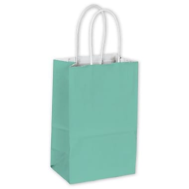 5 1/4in. x 3 1/2in. x 8 1/4in. Cotton Candy Shoppers, Aqua