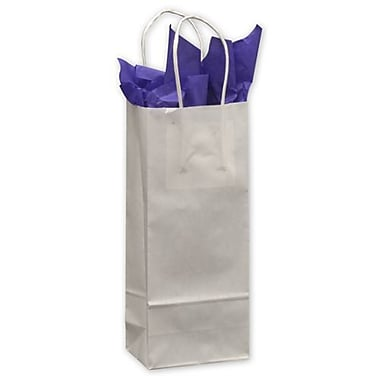 5 1/4in. x 3 1/2in. x 13in. Wine Paper Shoppers, White