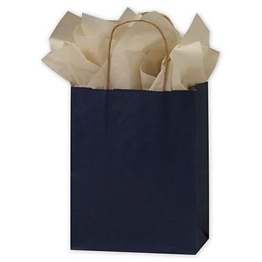 Sacs en couleur kraft, 8 1/4 x 4 1/4 x 10 3/4 po, bleu foncé, 250/paquet