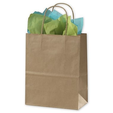 8 1/4in. x 4 1/4in. x 10 1/2in. Stripe Shoppers, Kraft