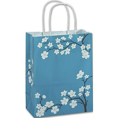 8 1/4in. x 4 3/4in. x 10 1/2in. Blooming Beauty Shoppers, Blue
