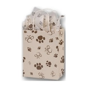 8 1/4 x 4 3/4 x 10 1/2 Paws Oatmeal Cub Shoppers, Brown on Oatmeal