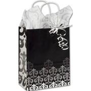 """Paper 10.5""""H x 8.25""""W x 4.75""""D Versailles Shopper Bags, Multicolor, 25/Pack"""