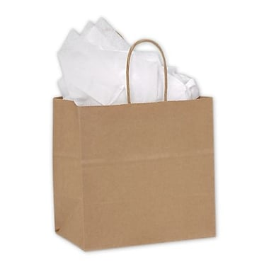 8in. x 5in. x 8in. Ruby Paper Shoppers, Kraft