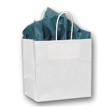 8in. x 5in. x 8in. Ruby Paper Shoppers, White