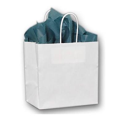 Sacs de magasinage à étoiles givrés avec poignée en boucle flexible, 16 x 6 x 12 po, transparent, 250/paquet