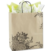 "Paper 15.5""H x 13""W x 6""D Shopper Bags, Brown, 25/Pack"