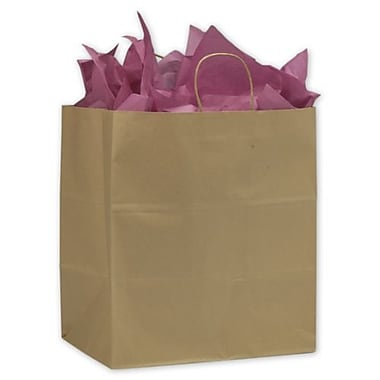 14in. x 9 1/2in. x 15 1/2in. Take Home Paper Shoppers, Kraft