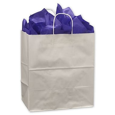 14in. x 9 1/2in. x 15 1/2in. Take Home Paper Shoppers, White