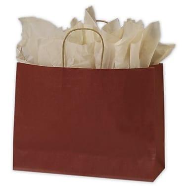Sacs de magasinage colorés, 16 x 6 x 12 1/2 po, rouge, 250/paquet