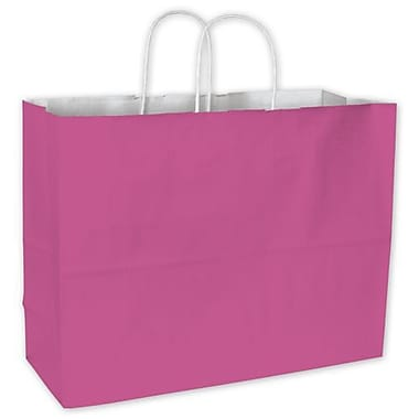 16in. x 6in. x 12 1/2in. Cotton Candy Shoppers, Hot Pink