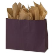 "16"" x 6"" x 12 1/2"" Color-On-Kraft Shoppers, Plum"