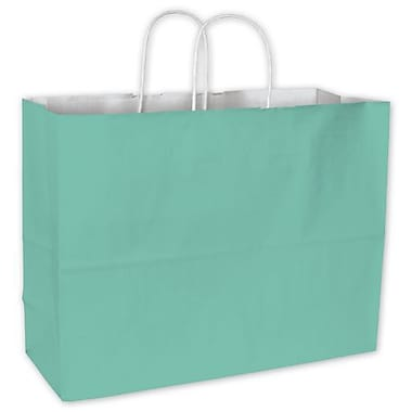 16in. x 6in. x 12 1/2in. Cotton Candy Shoppers, Aqua