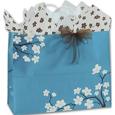 16in. x 6in. x 12 1/2in. Blooming Beauty Shoppers, Blue