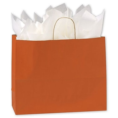 16in. x 6in. x 12 1/2in. Varnish Stripe Shoppers, Terra Cotta