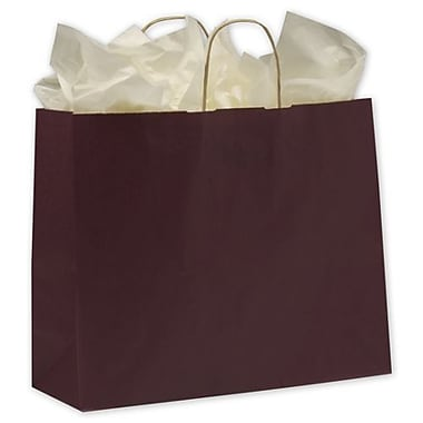 16in. x 6in. x 12 1/2in. Varnish Stripe Shoppers, Grape