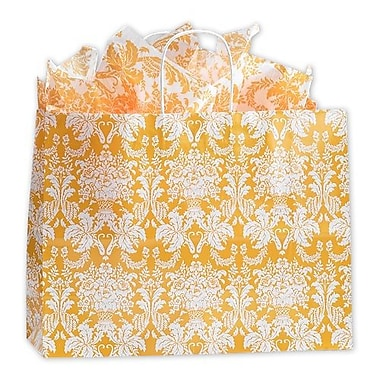 16in. x 6in. x 12 1/2in. Damask Mimosa Shoppers, Yellow