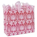 16in. x 6in. x 12 1/2in. Damask Shoppers, Honeysuckle