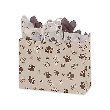 16in. x 6in. x 12 1/2in. Paws Vogue Shoppers, Brown on Oatmeal