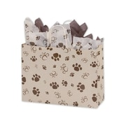 16 x 6 x 12 1/2 Paws Vogue Shoppers, Brown on Oatmeal