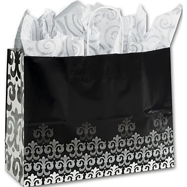16in. x 6in. x 12 1/2in. Versailles Shoppers, Black/White/Gray