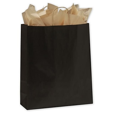 16in. x 6in. x 19in. Color on Kraft Shoppers, Black