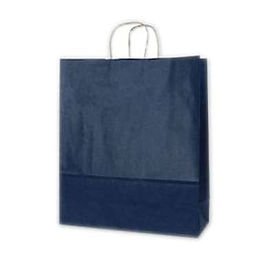 Colour-On-Kraft – Sacs de magasinage, 16 x 6 x 19 (po), bleu foncé, 200/paquet