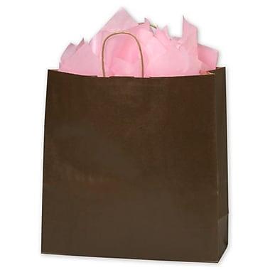 Colour-On-Kraft – Sacs de magasinage, 16 x 6 x 19 (po), chocolat, 200/paquet