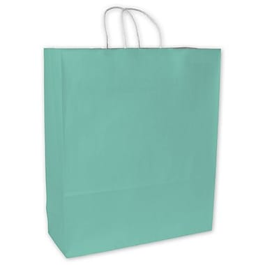 16in. x 6in. x 19in. Cotton Candy Shoppers, Aqua