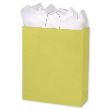 16in. x 6in. x 19in. Varnish Stripe Shoppers, Yellow