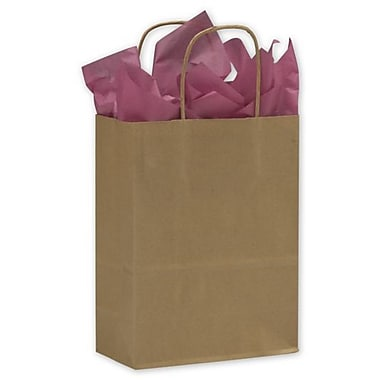 8 1/4in. x 4 1/4in. x 10 3/4in. Cub Paper Shoppers, Kraft