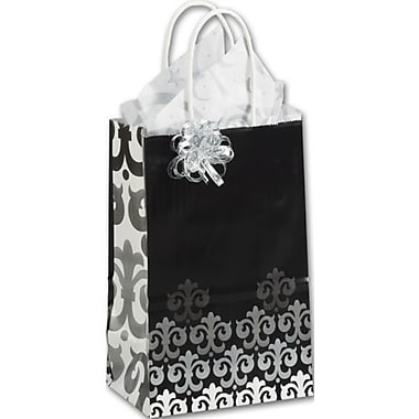 Paper 8.25in.H x 5.25in.W x 3.5in.D Versailles Shopper Bags, Multicolor, 25/Pack